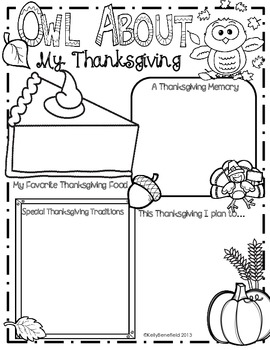 Thanksgiving Activities Poster