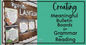 grammar and reading bulletin board ideas