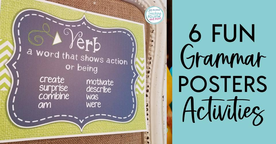 Grammar Posters Activities