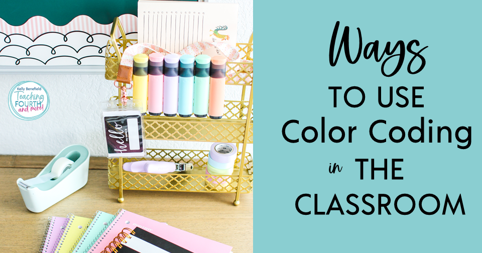 Ways to use color coding in the classroom: grammar